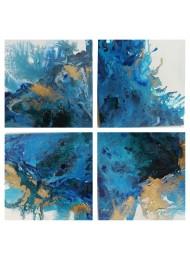 Авторски комплект от 4 картини акрил Sea Charm By Rosie