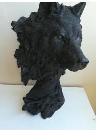 Статуя вълк - красив подарък за мъж и ефектна украса за дом и кабинет модел Black Wolf